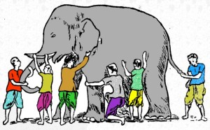 elephant with blind men
